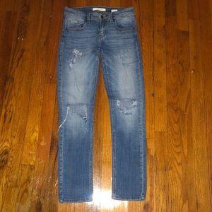 1 mid rise Eunia jeans